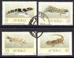 Zimbabwe 1989 Geckos Set Of 4, Used, SG 746/9 (BA) - Zimbabwe (1980-...)