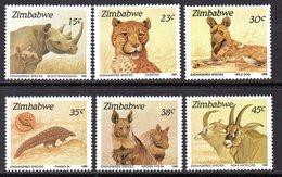 Zimbabwe 1989 Endangered Species Set Of 6, MNH, SG 762/7 (BA) - Zimbabwe (1980-...)