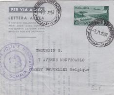 Entier Postal Stationery - Per Via Area - Posta Aerea - 1957 - Somalia/Somalie - Somalie (1960-...)