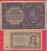 Autres-Europe 5 Billets  (Particularité 1 Billet De 500 DM-1985 -DDR -FAUX BILLET En UNC)4 Dans L 'état - Billets