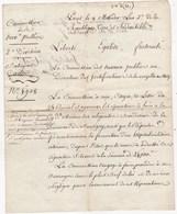 MONTIGNY LES METZ Lettre Du 8 Messidor L'an 2 26/06/1794 Reparation à Faire à  La Maison Des Religieuses Benedictine - Historical Documents