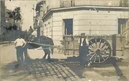 VAL D'OISE ARGENTEUIL  (carte Photo)  Attelage Chevaux Rue Saint Germain - Argenteuil