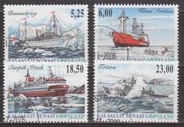 Bateaux, Navires - GROENLAND - Bateau Mixte, Bise Glace, Ferry, Vedette Rapide - N° 420 à 423 - 2005 - Groenland