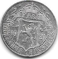 *cyprus 4,5 Piastres 1921  Km 15  Vf+ - Chypre