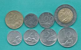San Marino - 1991 - 1, 2, 5, 10, 20, 50, 100 & 500 Lire (KMs 261-267 & 269) - Saint-Marin