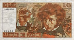 France 10 Francs, P-150a (3.10.1974) - Very Fine - 1962-1997 ''Francs''
