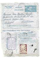 3,15 Fr Per Vliegtuig/Par Avion  26.10.1948 Naar Portugal +  Label U.N.A.C. - Stamped Stationery