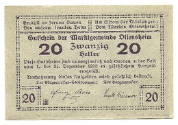 1920 - Austria - Ottensheim Notgeld N80 - Autriche