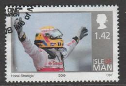 Isle Of Man 1961 2009 Winning Of The Formula 1 World Championship - Lewis Hamilton £1.42 Multicoloured SW 1489 O Used - Isle Of Man