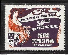 AMIENS - FOIRE EXPOSITION DE PICARDIE - 1969 - Erinnophilie