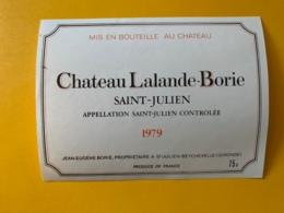 9542 - Château Lalande-Borie 1979 Saint-Julien - Bordeaux