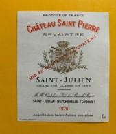 9550- Château  Saint-Pierre Sevaistre 1976 Saint-Julien - Bordeaux