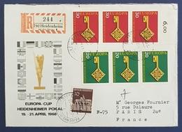 1968 Covers, Europa Cup, Heidenheimer Pokal, Heidenheim - Paris France, Germany, Allemagne Deutschland - [7] République Fédérale