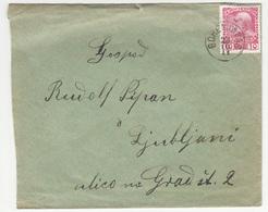 Slovenia Austria Letter Cover Travelled 1911 Gorenja Vas To Ljubljana B190110 - Slovenia