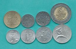 San Marino - 1992 - 1, 2, 5, 10, 20, 50, 100 & 500 Lire (KMS 278-284 & 286) - Saint-Marin