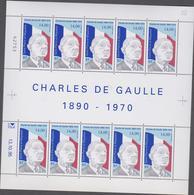 SAINT PIERRE ET MIQUELON 1 Feuille 10 T N°YT 622 Date 13.10.95 - Général De Gaulle - Neufs