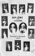 UZNACH Theater 1912 Der Löwe Von Luzern (Knicke) - SG St. Gall