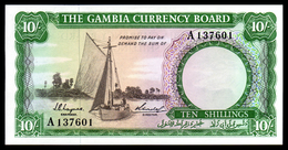 GAMBIE - 10 Shillings - 1965-1970 - P1 - UNC / NEUF - Bateau - Gambie