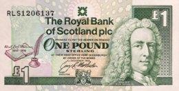 Scotland 1 Pound, P-358 (3.12.1994) - UNC - Robert Luis Stevenson Banknote - [ 3] Schottland