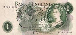 Great Britain 1 Pound, P-374g - UNC - 1952-… : Elizabeth II.