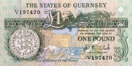 Guernsey 1 Pound, P-52c - UNC - Guernesey