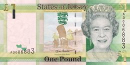 Jersey 1 Pound, P-32a (2010) - UNC - Jersey