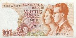 Belgium 50 Francs, P-139 (16.5.66) - EF/XF - Signature 20 - [ 2] 1831-...: Belg. Königreich