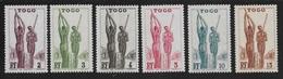 TOGO 1941 YT 182/187** SANS CHARNIERE NI TRACE - MNH - Togo (1914-1960)