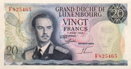 Luxembourg 20 Francs, P-54 (7.3.1966) - UNC - Luxembourg