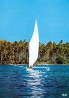 1 AK Tahiti / Französisch-Polynesien / French Polynesia * Sailing Canoe - Pirogues à Voile - IRIS Karte 127 - Tahiti