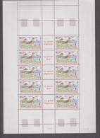 SAINT PIERRE ET MIQUELON 1 Feuille 10 T  N°YT PA73 Date 7.4.93 - Oiseaux Pluvier Doré - Unused Stamps