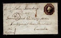A5772) UK Grossbritannien Brief 1856 M. Mi.5 N. Canada - 1840-1901 (Viktoria)