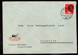 SBZ-Sächsische Schwärzung, EF. AP 786I , Reklame-Umschlag. - Sowjetische Zone (SBZ)