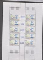 SAINT PIERRE ET MIQUELON 1 Feuille 10 T  N°YT PA74 Date 7.4.93 - Oiseaux Sterne Arctique - Unused Stamps