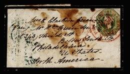 A5773) UK Grossbritannien Brief 1856 M. Mi.7 N. Philadelphia / USA - 1840-1901 (Viktoria)