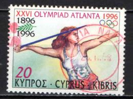 CIPRO - 1996 - OLIMPIADI DI ATLANTA - CENTENARIO DEI GIOCHI OLIMPICI MODERNI - USATO - Cipro (Repubblica)