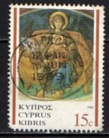 CIPRO - 1989 - NATALE: VERGINE CON BAMBINO - USATO - Cipro (Repubblica)