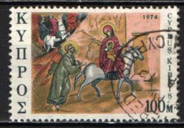 CIPRO - 1974 - FUGA IN EGITTO - AFFRESCO - USATO - Cipro (Repubblica)