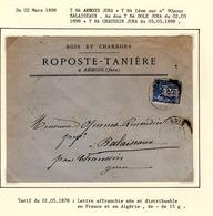 Jura : T 84 ARBOIS + T Idem Sur  Yt N° 90 Sur LSC   En 1898 - 1877-1920: Semi-Moderne