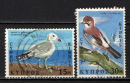 CIPRO - 1969 - UCCELLI: GABBIANO CORSO, GHIANDAIA - USATI - Cipro (Repubblica)