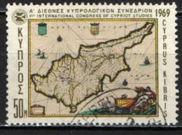 CIPRO - 1969 - CARTA GEOGRAFICA I CIPRO - USATO - Cipro (Repubblica)