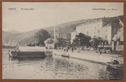 CROATIA, GRUZ-GRAVOSA, PORT/RAILWAY STATION-BAHNHOF LOCOMOTIVE PICTURE POSTCARD RARE!!!!!!!!! - Croatie