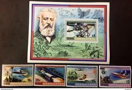 # Grenada 1979**Mi.330-34  Jules Verne ,MNH [20;91] - Persönlichkeiten