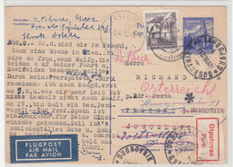 Austria Postal Stationery Postcardt Tavelled Air Mail 1962 To Trsteno Redirected Dubrovnik - Sticker Parti B190110 - 1961-70 Lettres
