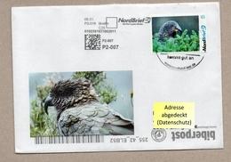 Nordbrief - Papageien  - Kea (Nestor Notabilis) Auf Gelaufenen Brief - Papageien