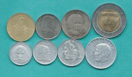 San Marino - 1996 - 1, 2, 5, 10, 20, 50, 100 & 500 Lire (KMS 349-355 & 357) - Saint-Marin