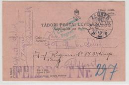 WWI Feldpost - Dopisnica Za Bojnu Poštu Travelled 1917 Zagreb FP297 Censored B190110 - Croatia