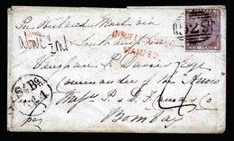 A5775) UK Grossbritannien Brief 1857 M. EF Mi.14 N. Bombay / India - 1840-1901 (Viktoria)