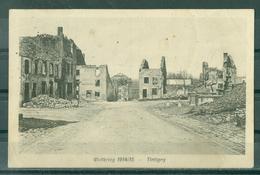 TINTIGNY - GUERRE 1914-18 - CARTE EMISE PAR LES ALLEMANDS - LE CENTRE DETRUIT - FELDPOST 3. 9. 1916 - Guerre 1914-18