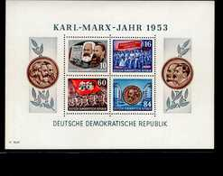 DDR Block 009 A Karl Marx  Mint * MLH - Blocks & Kleinbögen